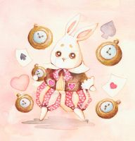 Follow the cute white rabbit by dragonfly-world