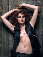 Maria in leather 2 by foto-z