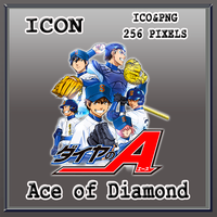 Ace of Diamond Icon by Myk-2103
