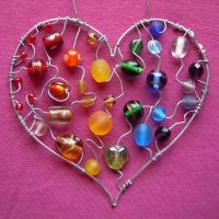 Big Hearted Rainbow SOLD by SneddoniaDesigns