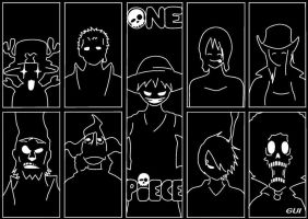 One Piece - Black and White by DelpechMode