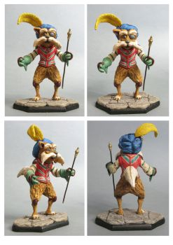 labyrinth Sir Didymus sculpture colors by yotaro-sculpts