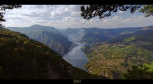 Mount Tara and lake Perucac 2 by Neshom