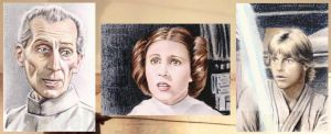 Star Wars sketchcards by whu-wei