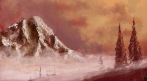 speedpaint_02 misty mountains by MacRebisz