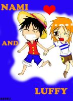 CHIBI NAMI AND LUFFY- JOIN ME!!! by RinALaw