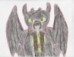 Hiccup and Toothless by RandomFandom12
