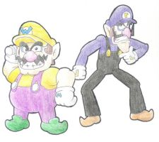 Wario and waluigi by minimariodrawer