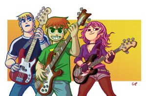Bass Gang - Scott Pilgrim Pinup by ManoelRicardo