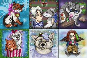 FOR TRADE. Winter pups2 CLOSED by NatsumeWolf