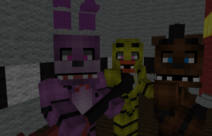 Five Nights At Freddy Minecraft by MinecraftWolfGirl