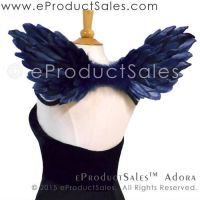MIDNIGHT BLUE Adora Feather Angel Wings by eProductSales