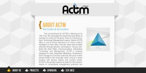 ACTM Website Concept by manila-craze
