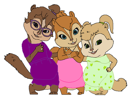 AATC4 Pregnant Chipettes by Soraply11