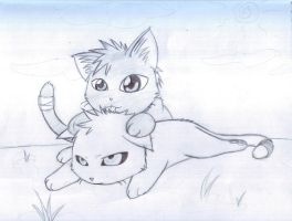Neko Ichi and Hich 2 Sketch by xHitachiinOtaku8684x