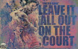 Michael Jordan Flu Game Wall by IshaanMishra