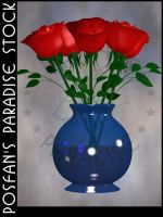 Vase w/Roses by poserfan-stock
