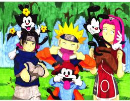 Naruto and Animaniacs by CultureClashStudios