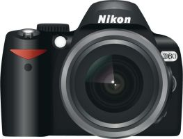 Nikon D60 vector by Lydiie