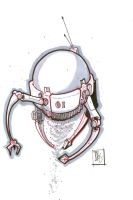 Robot Floater 2 by Pencilbags