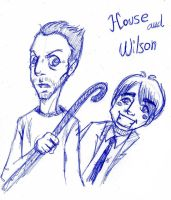 House and Wilson by Silwy-whisky