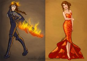The Girl On Fire by Wowiie