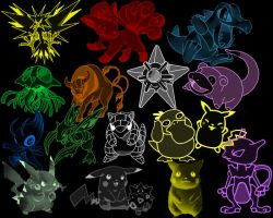 Pokemon Brushes PK1 by Pixi-Productions