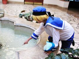 Sealand Touches Water Hetalia by firecloak