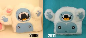 My Yetis- Then and Now by loveandasandwich