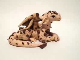 Chocolate Chip Cookie Dragon by PixieEmz