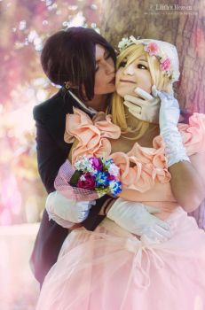 Ymir and Historia: Wedding by FlamesOfOblivion
