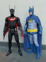 The TWO Caped-Crusaders.....TWO generations! by BatmanBeyondfan2009