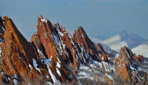 Red Rocks and Snow by Merlinman50