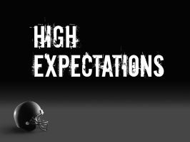 High Expectations Title Graphic by graph-man