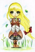 Request : Chibi Evangeline by KueLapis