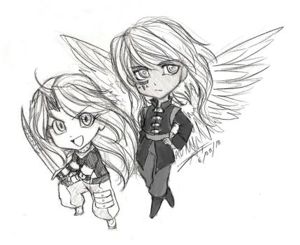 :Commission: Chiyo and Azure by Taralen