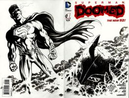 SUPERMAN vs. BATMAN - cover blank by RONJOSEPH-ARTIST