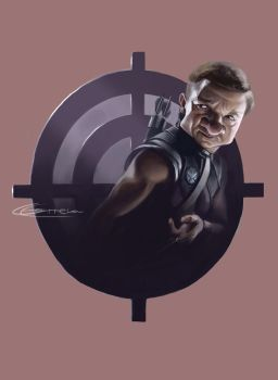 Jeremy Renner as Hawkeye by NightshadeBerry