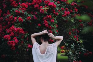 Natalia and the wild roses by CameraDude