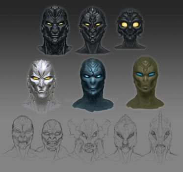BIONICLE BUSTS by The-HT-Wacom-Man