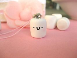 Little Baby Marshmallow Charm by sunnyxshine