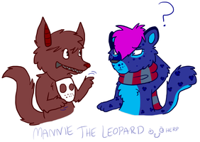 What are you saying :AT: by MannieTheLeopard