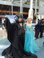 AX 2015 - Maleficent and Elsa Cosplay by SpaceStation91