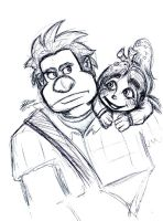 Ralph and Vanellope by nighte-studios