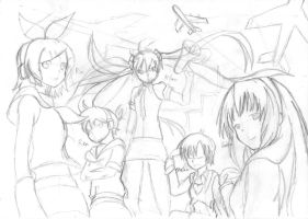 Vocaloid - Raw Sketch by Xandier59