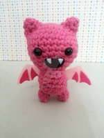 Pink Bat amigurumi by pirateluv