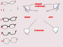 3DCG Glasses and Eyepatches by MMDxDespair