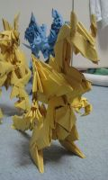 3d origami Dragon by kumazaza
