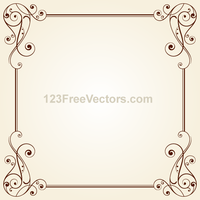 Vintage Ornate Frame Border Design Vector by 123freevectors
