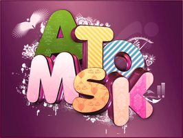 3D Typografi -Atomsk- by Photosherox